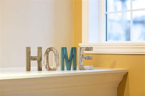 "Comfify ""Home"" Decorative Wooden Letters – Large Wood Letters for"