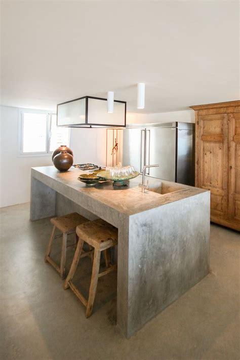 Concrete Kitchen Island kitchen design & decor ideas gallery