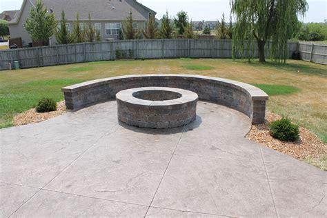 Concrete Patio with Fire Pit Designs patio design & decor ideas gallery