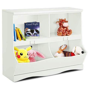 Costzon Toy Storage Organizer, Open Storage Toy Organizing Cubby,