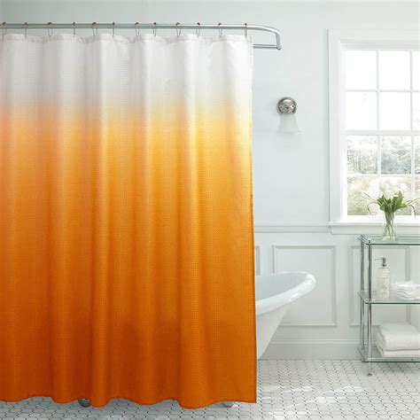 Creative Home Ideas Ombre Textured Shower Curtain with Beaded