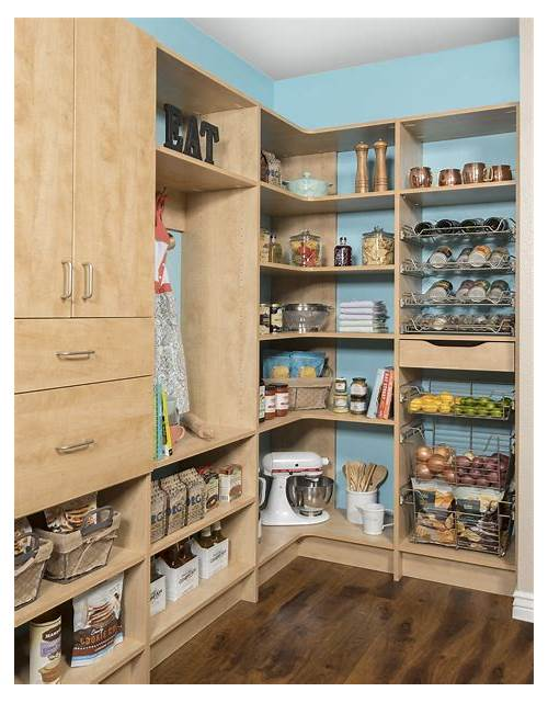 Custom Kitchen Pantry Shelving kitchen design & decor ideas gallery