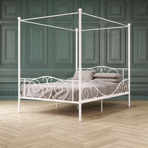 DHP Canopy Bed with Sturdy Bed Frame, Metal, Twin