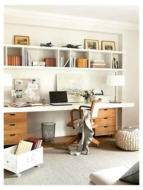 DIY Home Office above Desk Shelves office design & decor ideas gallery