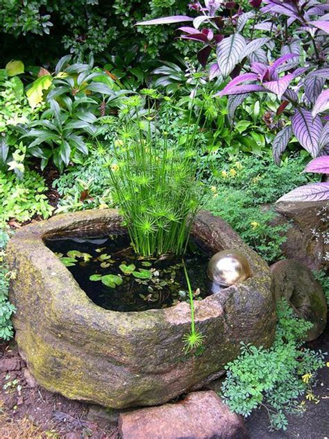 DIY Mini Pond Garden