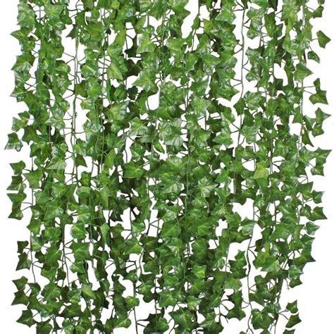 DearHouse 12 Strands Artificial Ivy Leaf Plants Vine Hanging Garland