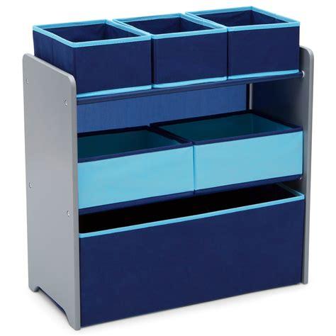 Delta Children 4-Pack Deluxe Water-Resistant Storage Cubes, Infinity/Grey