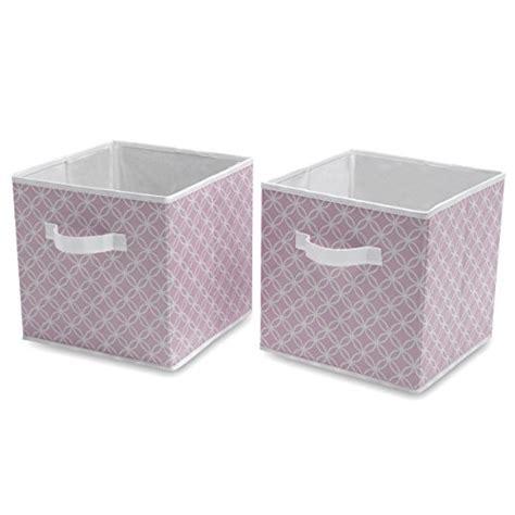 Delta Children Deluxe 2 Storage Water-Resistant Cubes, Infinity/Pink