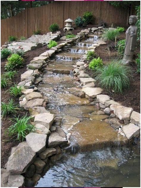 Design Idea Flower Garden with Pond