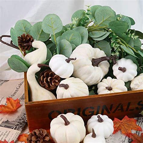 DomeStar Artificial Pumpkins for Decoration, 12PCS Mini Fake Pumpkins
