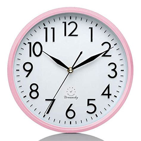 DreamSky 10 Inches Silent Wall Clock, Battery Operated, Non-Ticking Decorative