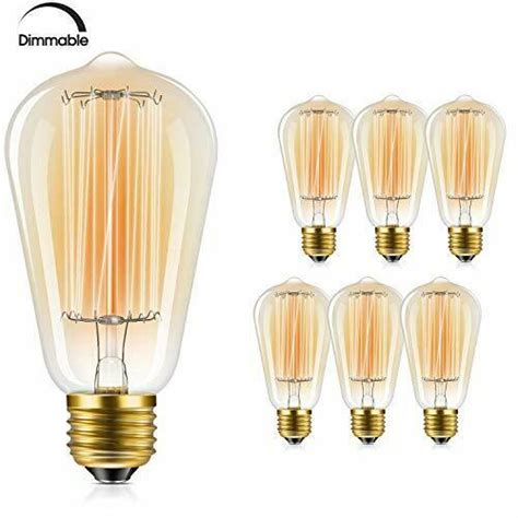 Edison Bulb, FadimiKoo Vintage Bulb 60W Dimmable ST58 Squirrel