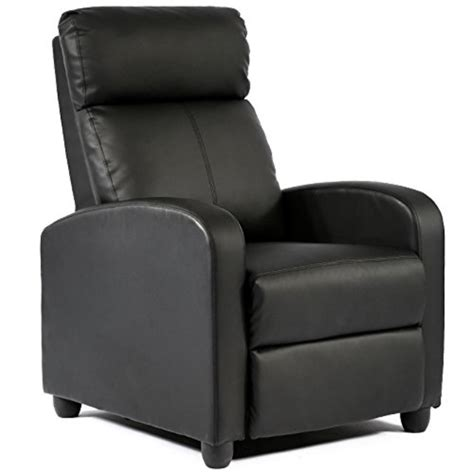 FDW Wingback Recliner Chair Leather Single Modern Sofa Home