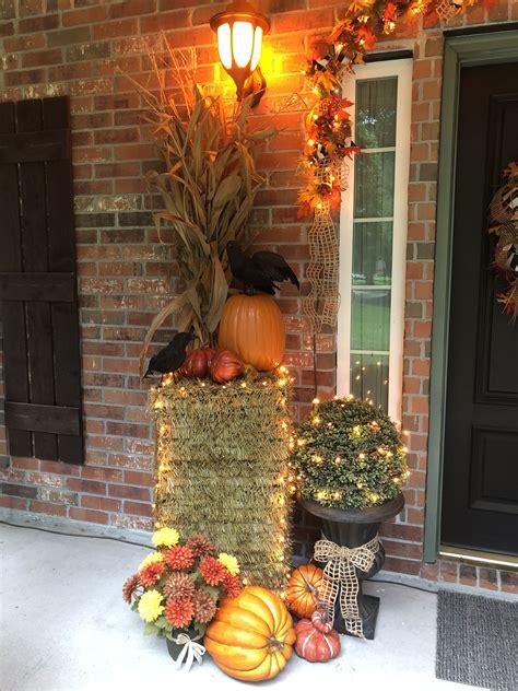 Fall Front Porch Pumpkin Decor home decor & decor ideas gallery