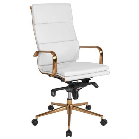 Flash Furniture High Back White Leather Executive Swivel Chair