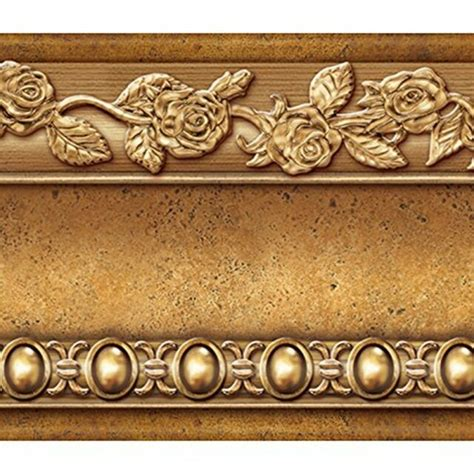 Flower Molding Peel and Stick Wall Border Easy to
