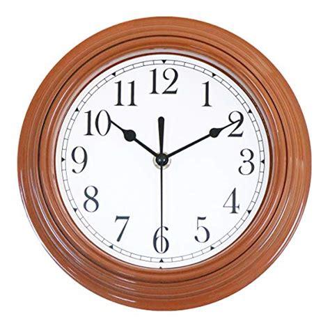 Foxtop 9 inch Quartz Decorative Modern Clock Silent Non Ticking
