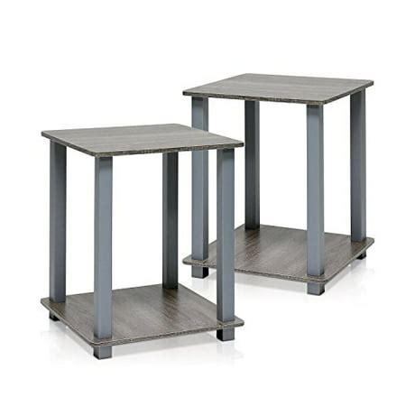 Furinno 12127GYW/GY Simplistic End Table, French Oak Grey,