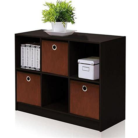 Furinno 99940GYW/BK French Oak Basic Bookcase Storage with