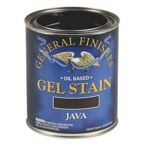General Finishes JQ Oil Base Gel Stain, 1 Quart, Java