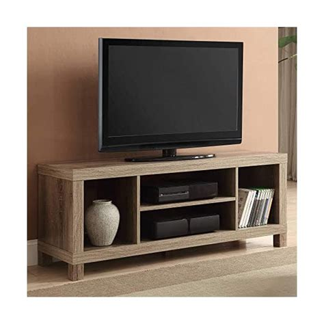 Generic- Cross Mill TV Stand (Rustic Oak, 47.24 x 15.75 x 19.09