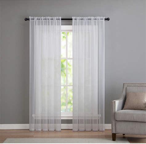 GoodGram 2 Pack: Basic Rod Pocket Sheer Voile Window Curtain