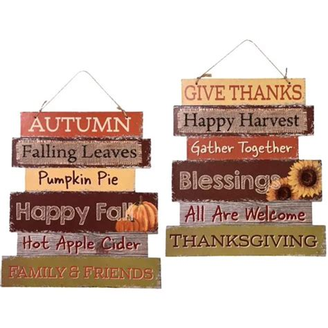 Greenbrier Fall Decoration Hanging Indoor Outdoor Welcome Wood Sign