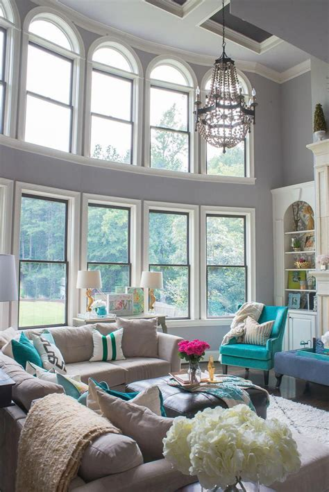 Grey Living Room with Pops of Color living room design & decor ideas gallery