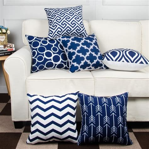 HOMFINER Decorative Throw Pillow Covers for Couch, Set of 6, 100%