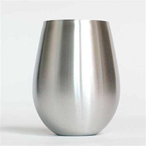 Holly Products Stainless Steel Wine Glasses-18 0z Small Stemless