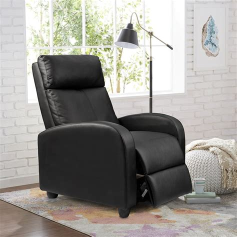 Homall Single Recliner Chair Padded Seat PU Leather Living