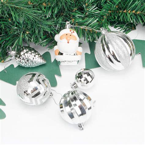 Homde Christmas Balls Ornaments 77ct Includes Santa Claus Snowflakes