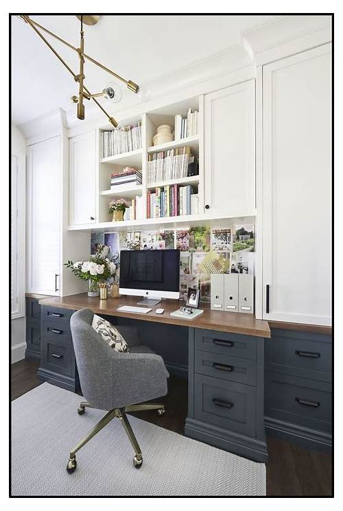 Home Office Built in Desk and Cabinets office design & decor ideas gallery