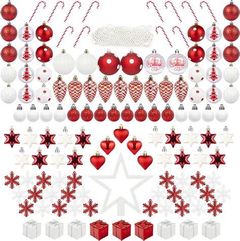 ITART 131ct Christmas Tree Ornaments Decorations Assortment Including Tree
