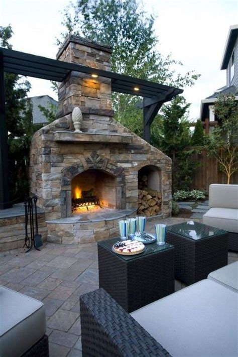 Idea Outdoor Patio Fireplace