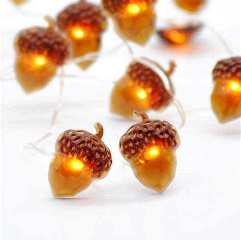Impress Life Christmas String Lights, Acorn 10ft Silver Wire 40