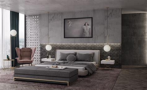 Industrial Grey Bedroom bedroom design & decor ideas gallery