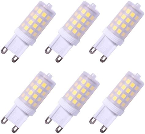JandCase G9 LED Light Bulbs, 40W Halogen Equivalent, 4W, 400