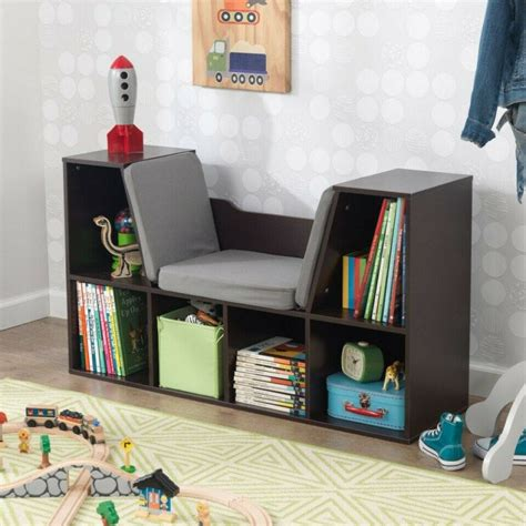 KidKraft Bookcase with Reading Nook Toy, Espresso