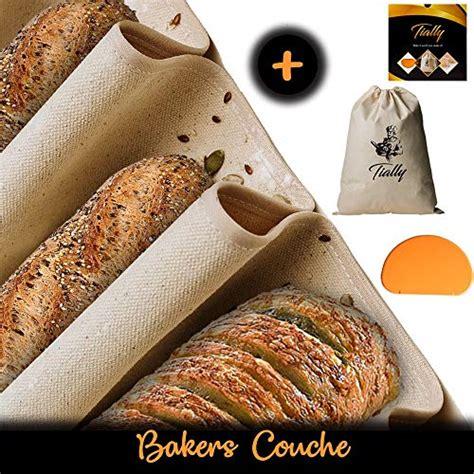 Koaland Pack of 4 Natural Unbleached Linen Bread Bags, Reusable