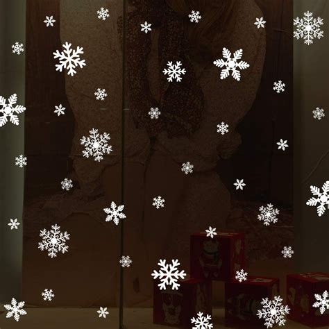 LUDILO 135Pcs Christmas Window Clings Snowflakes Window Decals Static