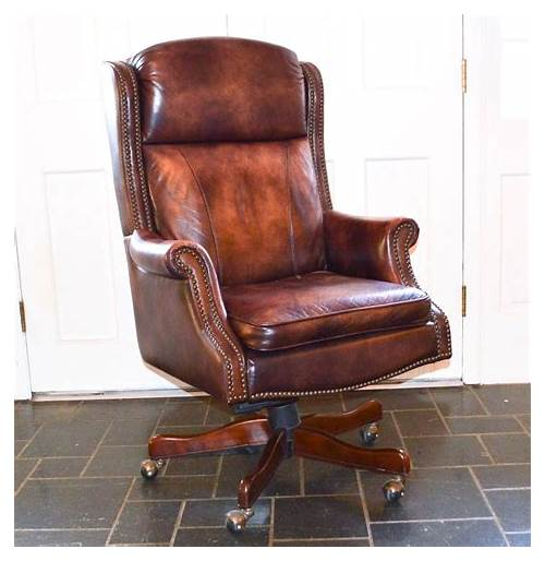 Leather Wingback Office Chair Executive office design & decor ideas gallery