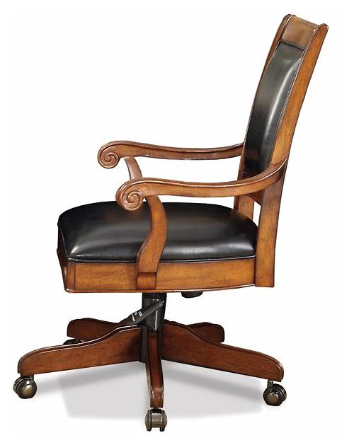 Leather Wood Office Desk Chair office design & decor ideas gallery