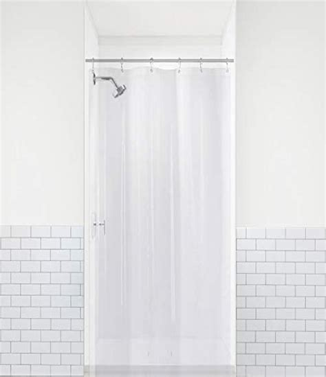 LiBa Mildew Resistant Anti-Bacterial PEVA 8G Shower Curtain Liner, 72