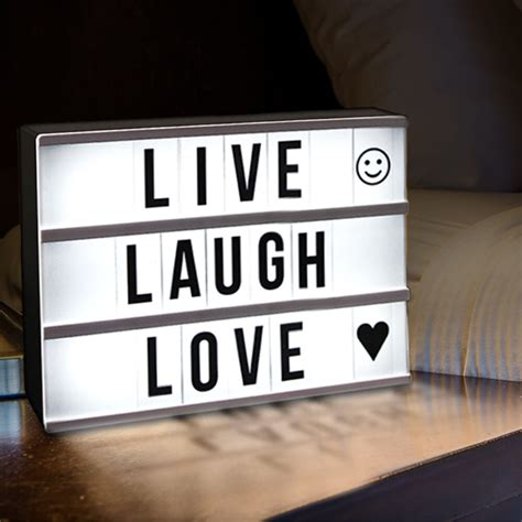 Light up Box Sign with Letters - A4 Size
