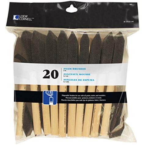 Loew-Cornell 841 20-Piece Foam Brush Set, 1-Pack, Black