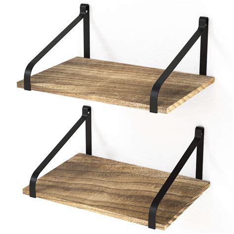 Love-KANKEI Floating Shelf Wall Shelf for Storage - Rustic