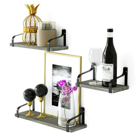 Love-KANKEI Floating Shelves Wall Mount Rustic Wood Wall Shelves
