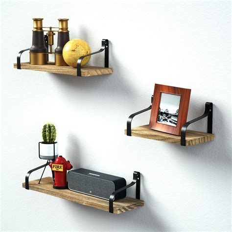Love-KANKEI Rustic Floating Shelves Wall Mounted, Industrial Wall Shelves