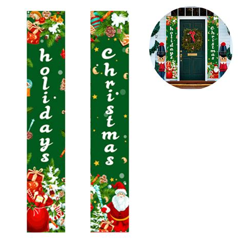 MORDUN Christmas Decorations Outdoor Indoor | Merry Bright Porch Sign |